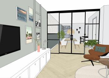 Foto portfolio nieuwbouwhuis Vianen, interieurplan 2
